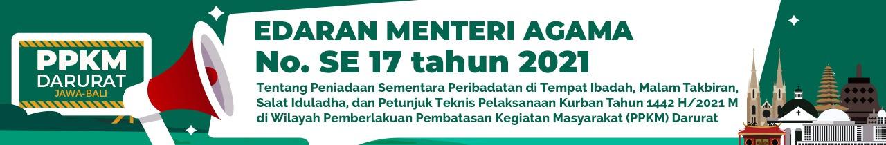 Surat Edaran Nomor 17 Tahun 2021