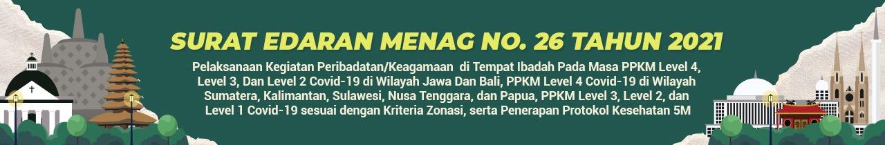 Edaran Menag No SE 26 Tahun 2021 tentang Penyelenggaraan Ibadah di Masa PPKM